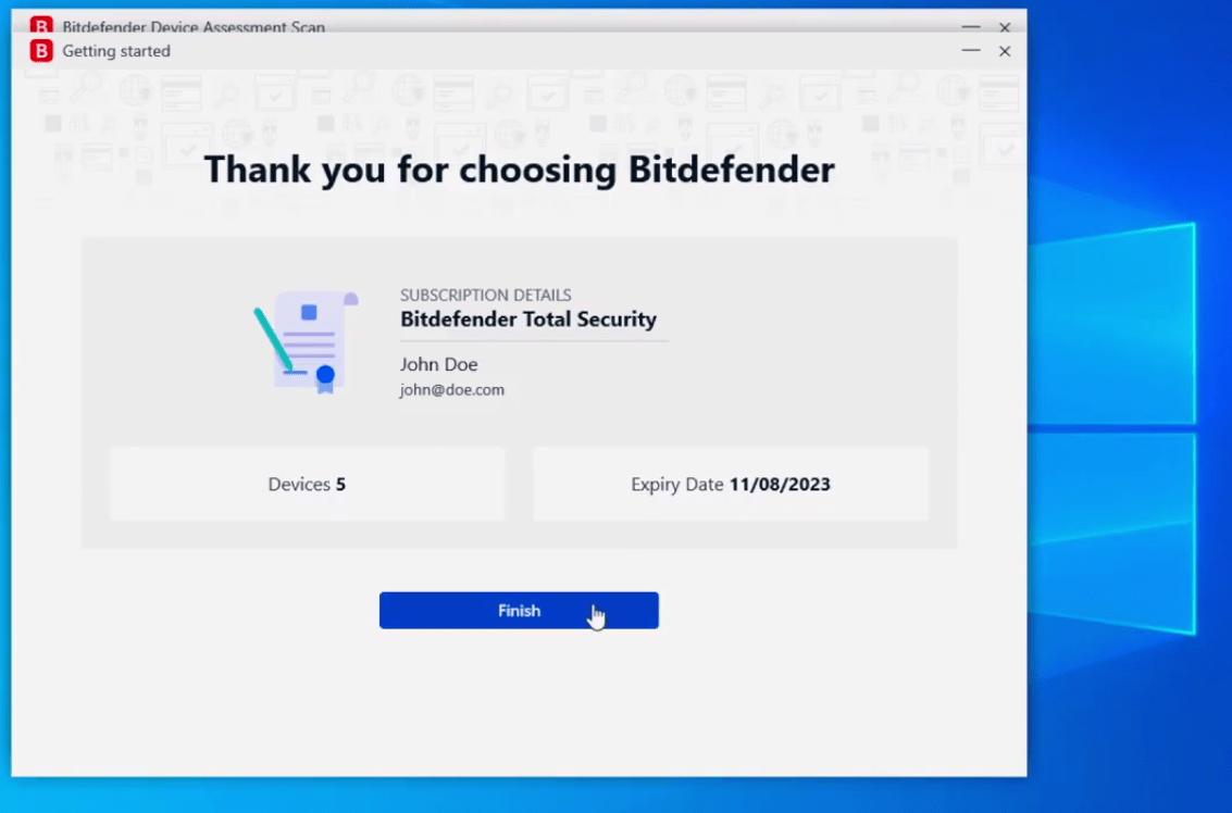 راهنمای نصب بیت دیفندر برای ویندوز6
